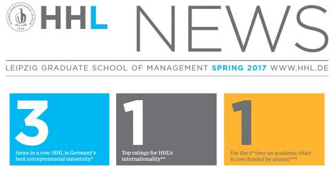 Druckfrisch: HHL news Frühjahr 2017