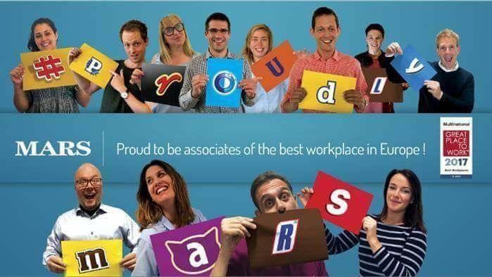Mars Inc. gekürt als bester multinationaler Arbeitgeber Europas