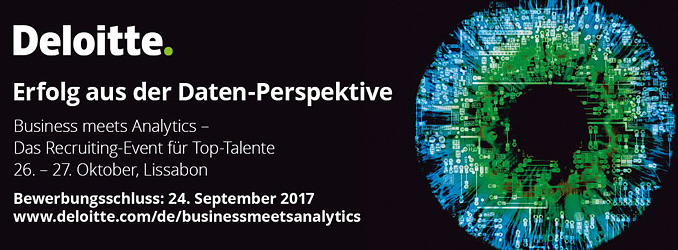 LAST CALL | Business meets Analytics mit Deloitte