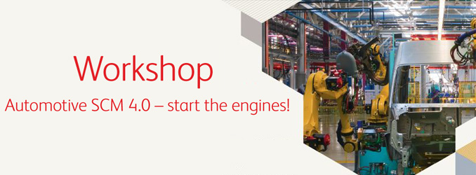 LAST CALL | Workshop Automotive SCM 4.0 - start the engines!