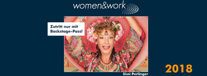 Sissi Perlinger ist VIP-Gast auf der women&work am 28. April in Frankfurt