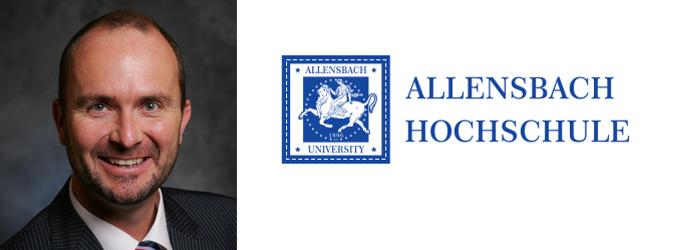 Berufung von Dr. Thilo Eith als Professor für Allg. BWL an der Allensbach Hochschule