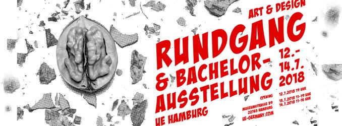 Gemeinsamer Sommerrundgang und Bachelorausstellung der University of Applied Sciences Europe in Hamburg