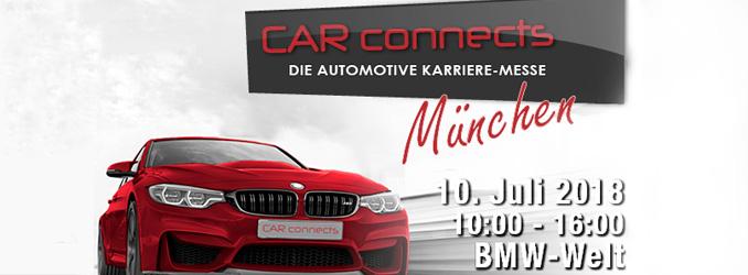 CAR-connects in der BMW-Welt-München // 10. Juli 2018 // 10.00-16.00 Uhr
