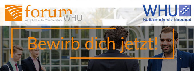 forumWHU - Bewirb dich jetzt!