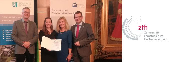 Absolventin des Fernstudiums MBA Logistik – Management & Consulting erhält Koblenzer Hochschulpreis