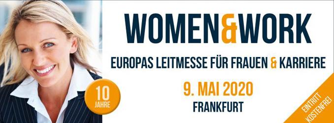 Ausstellerrekord auf der 10. women&work am 9. Mai 2020