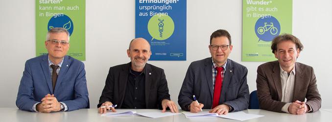 TH Bingen und zfh unterzeichnen Kooperationsvertrag