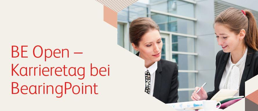 Bewerbungsschluss BE Open – Karrieretag bei BearingPoint