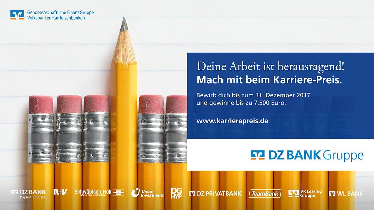 Bewerbungsphase Karriere-Preis der DZ BANK Gruppe 2018