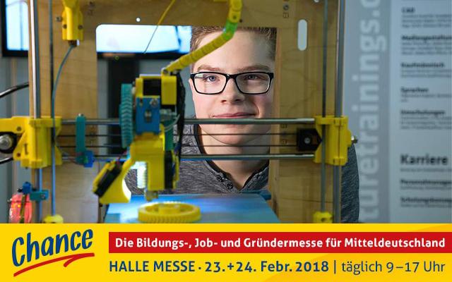 <i>Chance</i> 2018<br> Die Bildungs-, Job- und Gründermesse für Mitteldeutschland