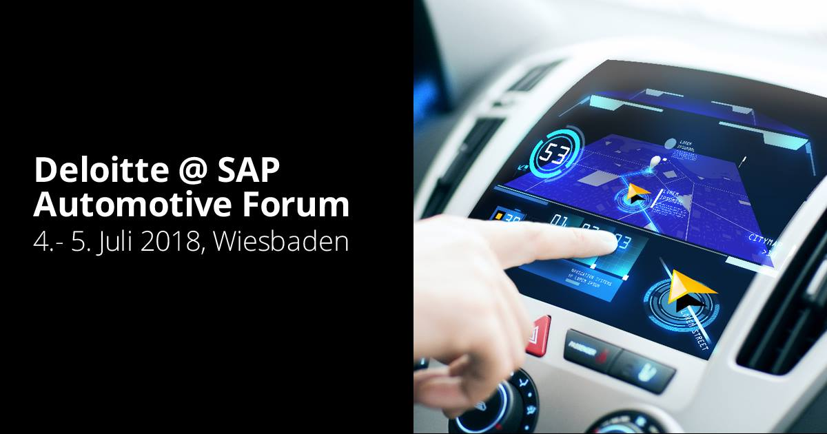 Deloitte @ SAP Automotive Forum