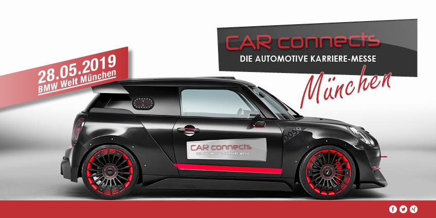 CAR-connects // BMW-Welt München // 28. Mai 2019 // 10-16 Uhr // Eintritt frei
