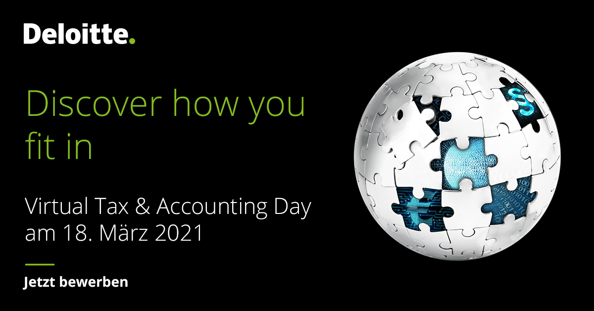 KARRIEREEVENT VIRTUAL TAX & ACCOUNTING DAY | 18. MÄRZ 2021