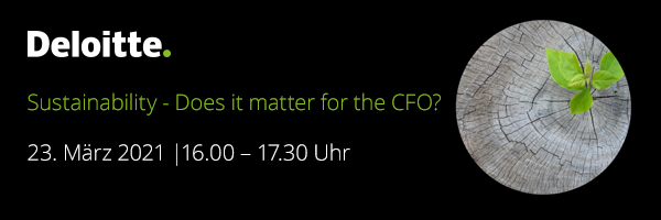 Sustainability – Does it matter for the CFO?