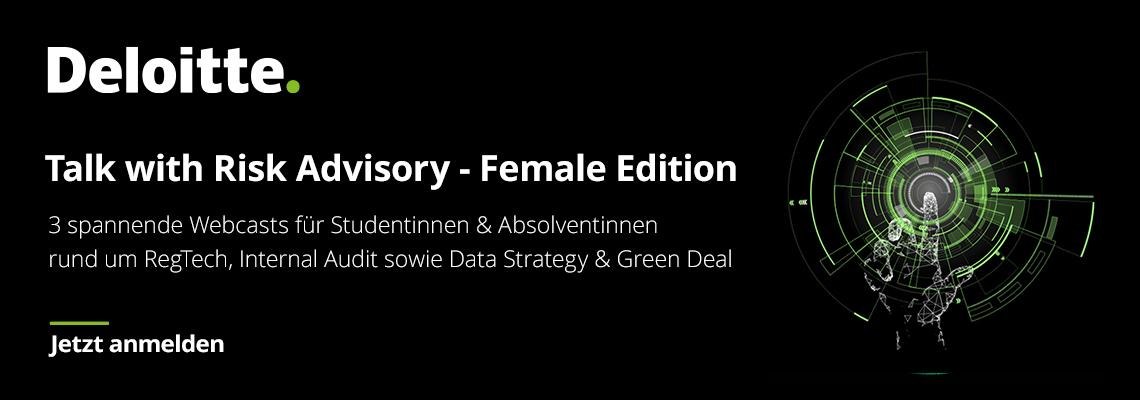 Talk with Risk Advisory - Female Edition: <br>Cyber & Strategic Risk