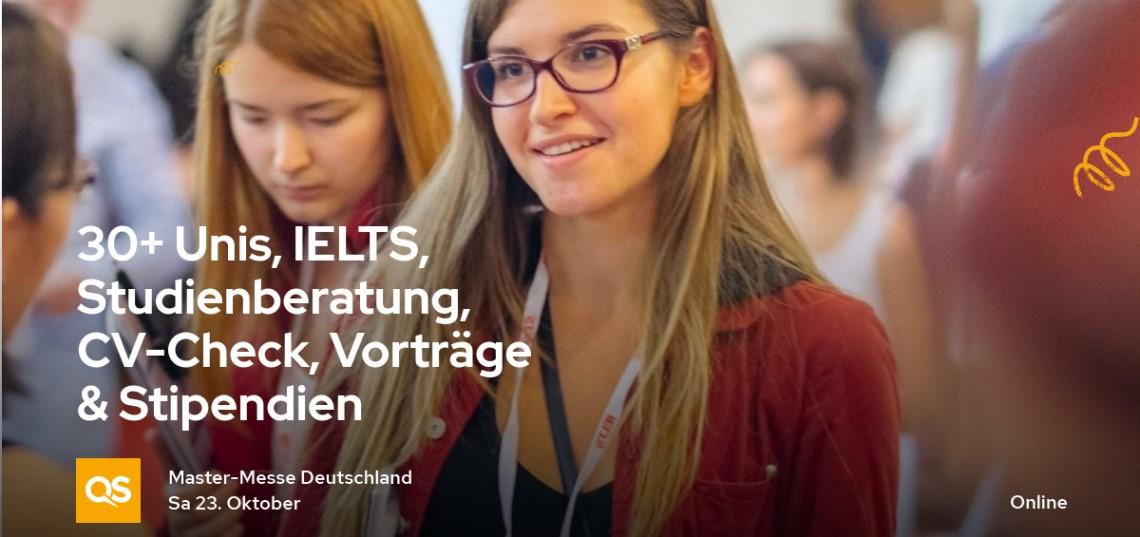 QS Online Master-Messe – Deutschland & Österreich